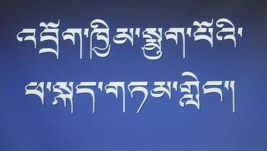 Gli studenti a difesa della lingua tibetana