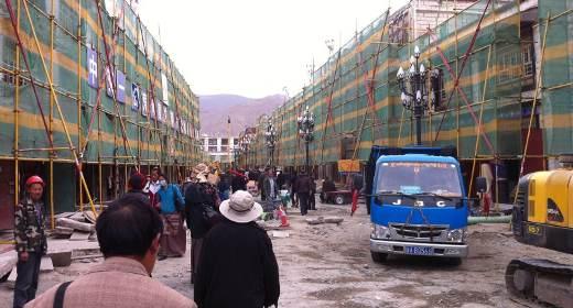 ristrutturazione Barkhor Lhasa